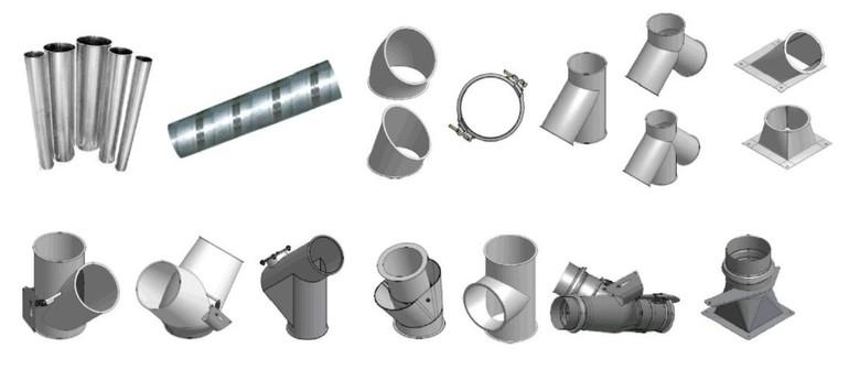 Набор труб и соединительных деталей