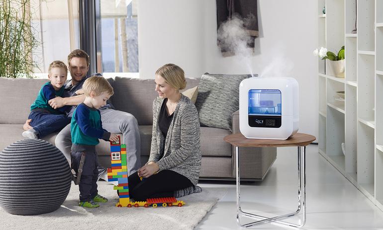 Использование увлажнителя воздуха в квартире