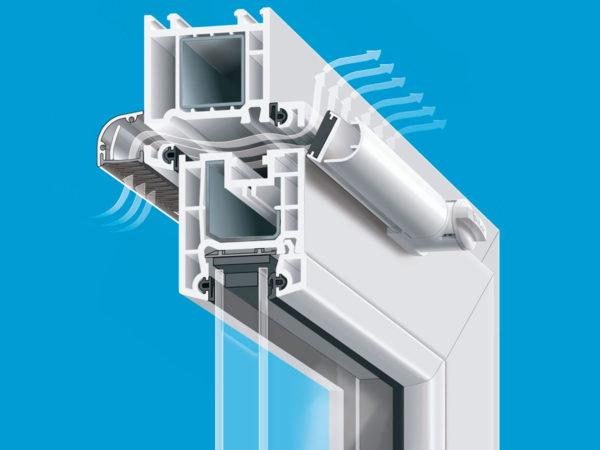 приточный клапан на пластиковые окна