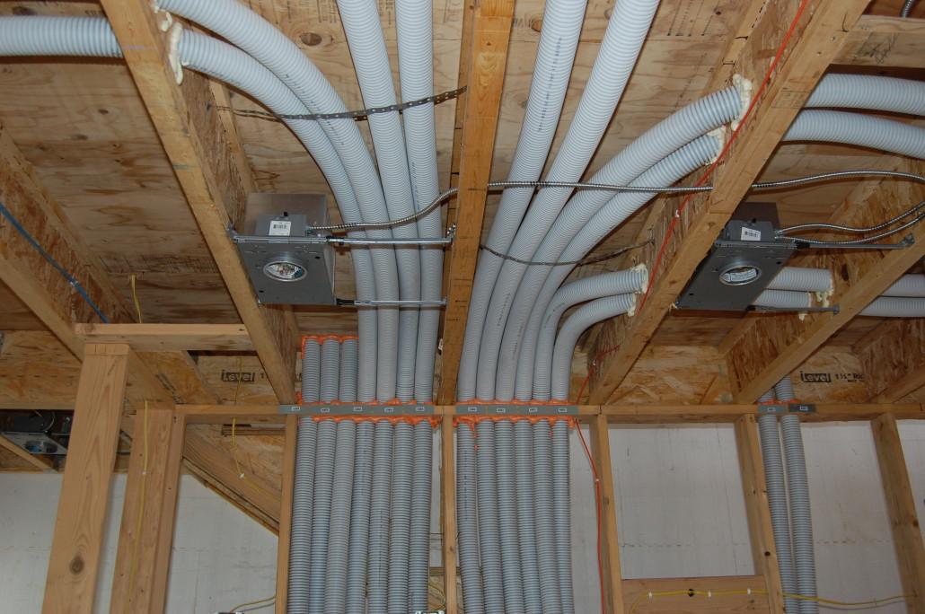 Система труб для вентиляции каркасного дома