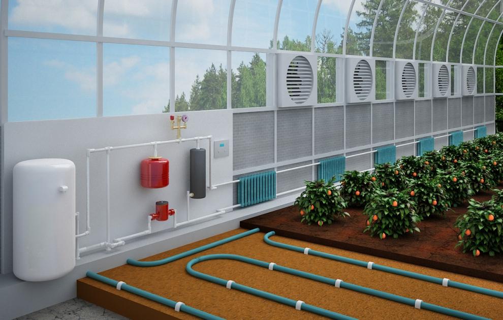 Система вентиляции и контроля температуры