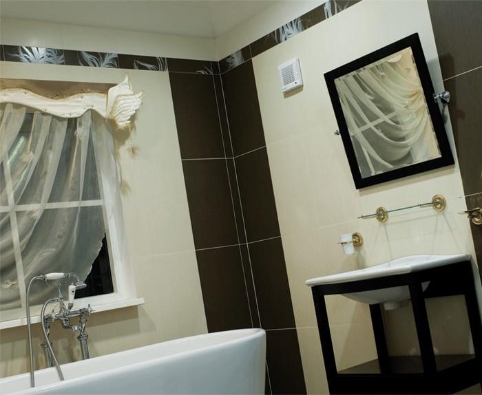 Интерьер ванной с вентиляцией