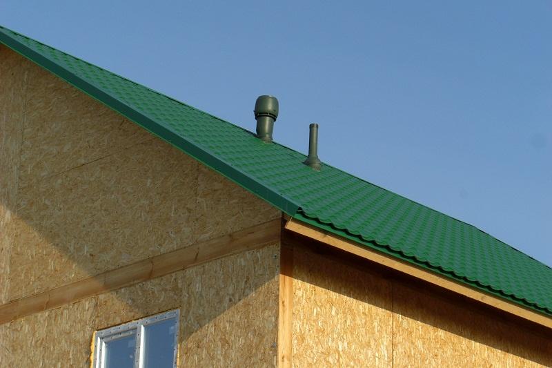 Крыша с трубами
