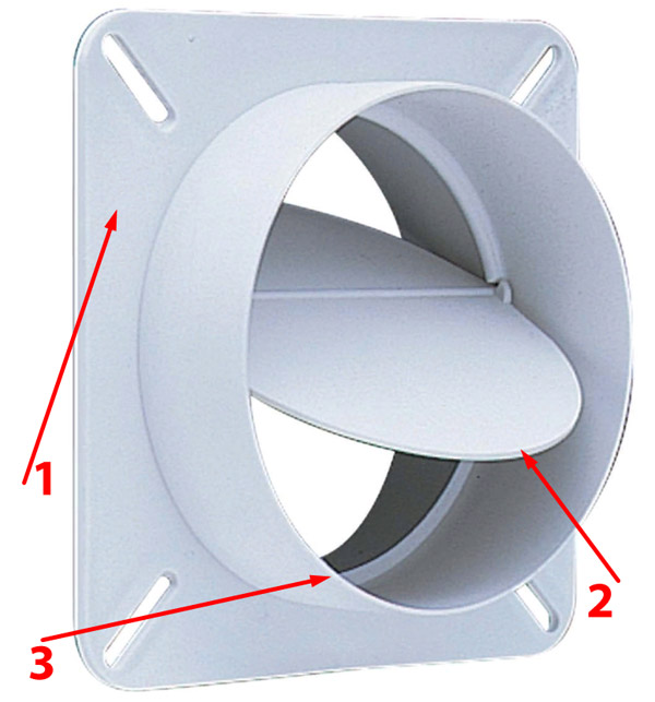 конструкция решётки с обратным клапаном